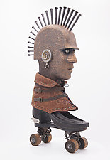 Road Warrior by Buffington Bremer Studio   (Wood Sculpture)