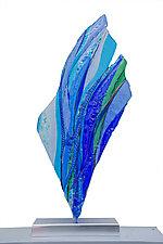 Bluefin by Cathy Shepherd (Art Glass Sculpture)