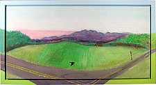 On the Road by K. Velis Turan (Fiber Wall Hanging)