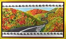 October Drive by K. Velis Turan (Fiber Wall Hanging)