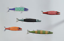 Whimsical Fish by Paul Sumner (Wood Wall Sculpture)