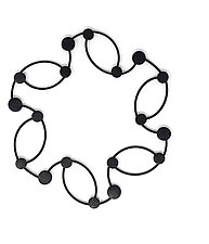 Ellipses Necklace by Kathleen Nowak Tucci (Rubber Necklace)
