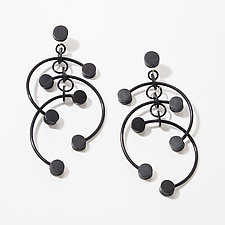 Deco Dot Earrings by Kathleen Nowak Tucci (Rubber Earrings)