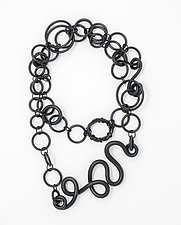 Meander Necklace by Kathleen Nowak Tucci (Rubber & Polymer Necklace)