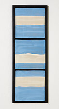 Blue Serenity by Kristi Sloniger (Ceramic Wall Sculpture)