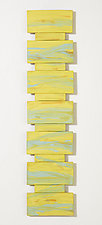 Warm Yellow by Kristi Sloniger (Ceramic Wall Sculpture)