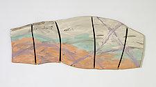 Distant Horizon by Kristi Sloniger (Ceramic Wall Sculpture)