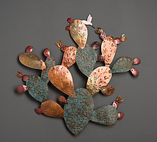 Copper Cactus by Dale Jenssen (Metal Wall Sculpture)