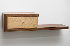 Clavigerous Floating Shelf by Todd Leback (Wood Shelf)