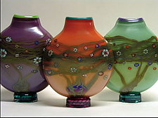 Vines Vases by Ken Hanson and Ingrid Hanson (Art Glass Vase)