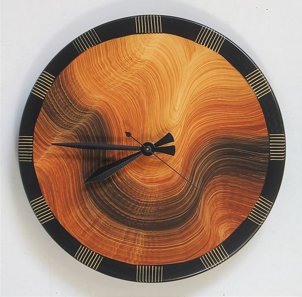 Burl Comb Wall Clock