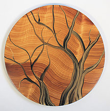 Lazy Susan with Trees by Ingela Noren and Daniel  Grant (Wood Serving Piece)
