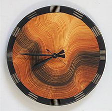 Burl Comb Wall Clock by Ingela Noren and Daniel  Grant (Wood Wall Clock)