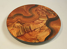 Burly Flames Lazy Susan by Ingela Noren and Daniel  Grant (Wood Serving Piece)