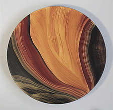 Golden Wedge Lazy Susan by Ingela Noren and Daniel  Grant (Wood Serving Piece)