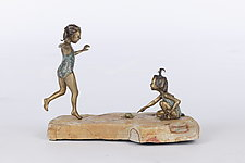Turtle Girls by Sandy Graves (Bronze Sculpture)