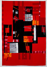 Red Flags: Crushing Barriers by Aryana Londir (Fiber Wall Hanging)