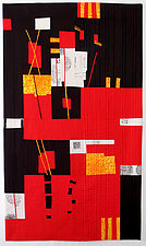 Red Flags: Decisions by Aryana Londir (Fiber Wall Hanging)
