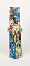 Blue Haze by Rebecca Zweibel (Ceramic Sculpture)