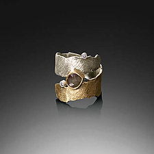 Nastri Ring by Davide Bigazzi (Gold, Silver & Stone Ring)