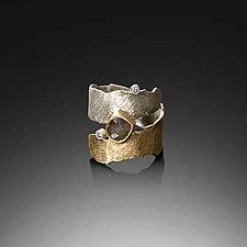 Nastri Ring by Davide Bigazzi (Gold, Silver & Stone Ring)