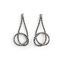Knot Zipper Earrings by Kate Cusack (Gold & Silver Earrings)