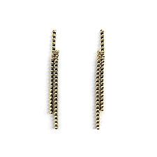 Long Line Zipper Earrings by Kate Cusack (Gold & Silver Earrings)