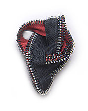Zipper Knot Point Brooch by Kate Cusack (Zippered Pin)