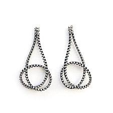 Long Knot Zipper Earrings by Kate Cusack (Gold Earrings)