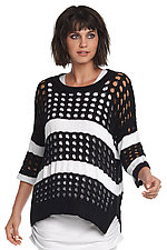 Striped Lattice Sweater by Planet (Knit Sweater)