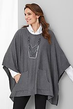 Ribbed Pocket Poncho by Planet (Knit Sweater)