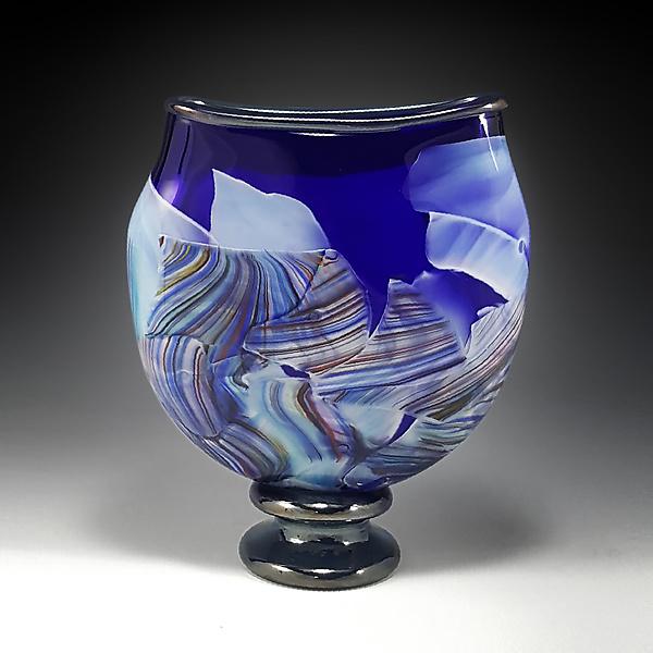 Transformation Pocket Vase By Mark Rosenbaum Art Glass Sculpture