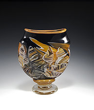 Transformation Pocket Vase by Mark Rosenbaum (Art Glass Sculpture)
