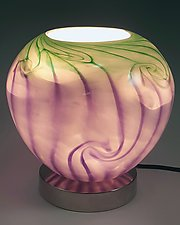 Round Uplight by Mark Rosenbaum (Art Glass Table Lamp)