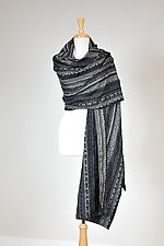 Gray Textured Wrap by Carol Turner (Woven Scarf)