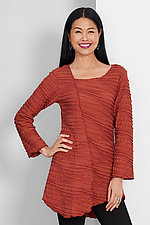 Long Sleeve Fiore Asymmetrical Tunic by Carol Turner (Knit Tunic)