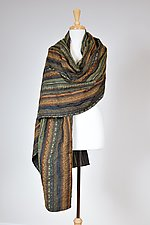 Olive Textured Wrap by Carol Turner (Woven Scarf)