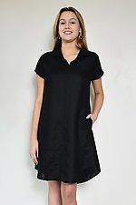 Collared Cap Sleeve Dress by Carol Turner (Linen Dress)