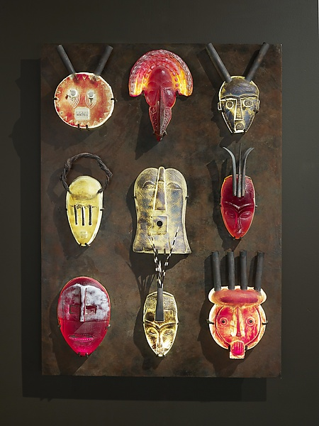 African Mask Wall