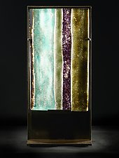 Stripes by Marlene Rose (Art Glass Sculpture)