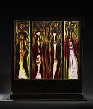 Five Figure Family by Marlene Rose (Art Glass Sculpture)