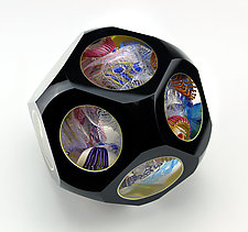 Opaque Oriel by Wes Hunting (Art Glass Sculpture)