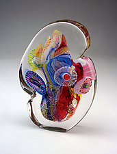 Crystal Optical II by Wes Hunting (Art Glass Sculpture)