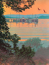Back Bay by William Hays (Linocut Print)