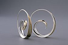 Spiral Earrings by Nancy Linkin (Silver & Gold Earrings)