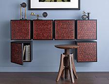 Bubinga Box by Kevin Irvin (Wood Wall Cabinet)