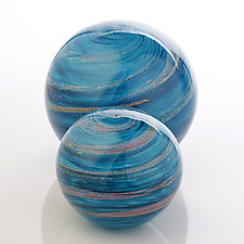 Ocean Orb Set by Benjamin Silver (Art Glass Paperweight)