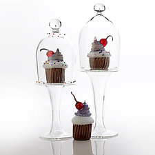 The Lonely Cupcake Set by Benjamin Silver (Art Glass Sculpture)