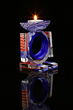 The Patriot by Benjamin Silver (Art Glass Candleholder)