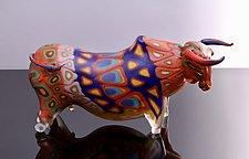Yak by Benjamin Silver (Art Glass Sculpture)